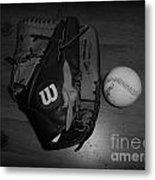 Baseball Metal Print by Meagan Hoelzer