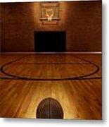 Basketball And Basketball Court Metal Print by Lane Erickson