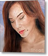 Beautiful And Sexy Actress Jeananne Goossen IIi  Metal Print by Jim Fitzpatrick