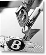 Bentley Hood Ornament Metal Print by Jill Reger