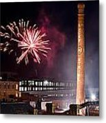 Bull Durham Fireworks Metal Print by Jh Photos