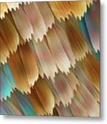 Butterfly Wing Scales Metal Print by Power And Syred