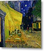 Cafe Terrace Arles Metal Print by Vincent van Gogh