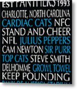 Carolina Panthers Metal Print by Jaime Friedman