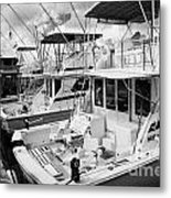 Charter Fishing Boats In The Old Seaport Of Key West Florida Usa Metal Print by Joe Fox