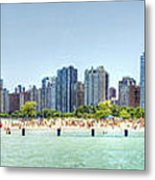 Chicago North Avenue Beach Metal Print by Patrick  Warneka