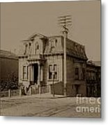 Clay And Hyde Street's San Francisco Built In 1874 Burned In The 1906 Fire Metal Print by California Views Mr Pat Hathaway Archives