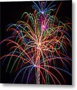 Colorful Fireworks Metal Print by Garry Gay