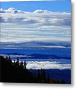 Courthouse Valley Sea Of Clouds Metal Print by Michael Weeks