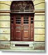 Double Door Metal Print by Tom Gowanlock