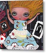 Down The Rabbit Hole Metal Print by  Abril Andrade Griffith