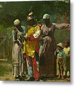 Dressing For The Carnival Metal Print by Winslow Homer