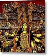 Durga Statue The Hindu Goddess #2 Metal Print by Amitava Ray