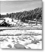 Evergreen Lake House Winter Metal Print by Ron White