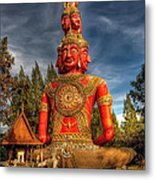Faces Of Buddha Metal Print by Adrian Evans