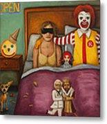 Fast Food Nightmare Metal Print by Leah Saulnier The Painting Maniac