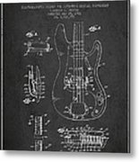 Fender Guitar Patent Drawing From 1961 Metal Print by Aged Pixel