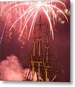 Fireworks Exploding Over Salem's Friendship Metal Print by Jeff Folger