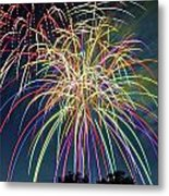 Fireworks Metal Print by Michael Shake