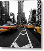 Flatiron Building Nyc Metal Print by John Farnan