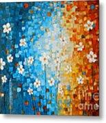 Flowers After Rain Metal Print by Denisa Laura Doltu