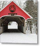 Flume Covered Bridge - White Mountains New Hampshire Usa Metal Print by Erin Paul Donovan