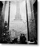 Foyer Of The Empire State Building New York City Usa Metal Print by Joe Fox