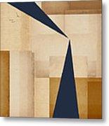 Geometry Indigo Number 5 Metal Print by Carol Leigh