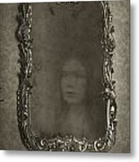 Ghost Of A Woman Reflected In A Mirror Metal Print by Lee Avison