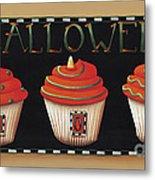 Halloween Cupcakes Metal Print by Catherine Holman