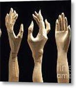 Hands Of Wood Puppets Metal Print by Bernard Jaubert
