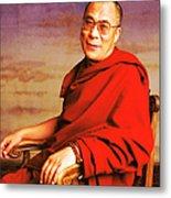 H.h. Dalai Lama Metal Print by Jan Faul