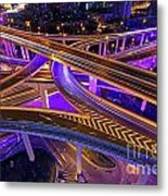Highway Intersection In Shanghai Metal Print by Lars Ruecker