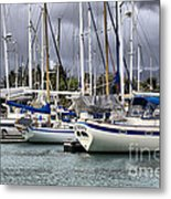 In The Harbor Metal Print by Cheryl Young