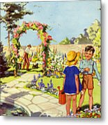Infant School Illustrations 1950s Uk Metal Print by The Advertising Archives