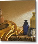 Inspired By Vermeer Metal Print by Barbara Groff
