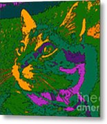 Jungle Cat Metal Print by Hanza Turgul