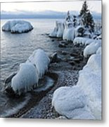 Lake Superior Blues Metal Print by Sandra Updyke