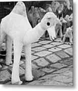 Large Soft Toy Stuffed Camel Souvenir At Market Stall In Nabeul Tunisia Metal Print by Joe Fox
