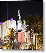 Las Vegas - New York New York Casino - 12122 Metal Print by DC Photographer