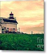 Lighthouse Prince Edward Island Metal Print by Edward Fielding