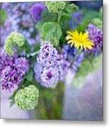 Lilacs In Vase 3 Metal Print by Rebecca Cozart