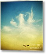 Lonely Seagull Metal Print by Setsiri Silapasuwanchai