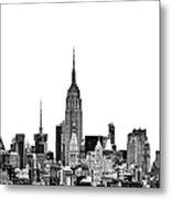 Manhattan Skyline Metal Print by John Farnan