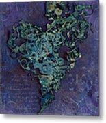Mechanical - Heart Metal Print by Fran Riley