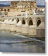 Mezquita And Roman Bridge In Cordoba Metal Print by Artur Bogacki