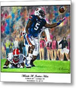 Miracle At Jordan-hare Metal Print by Lance Curry