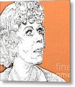 momma on Orange Metal Print by Jason Tricktop Matthews
