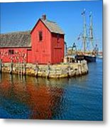Motif Number One Rockport Lobster Shack Maritime Metal Print by Jon Holiday