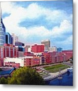Nashville Skyline Metal Print by Janet King